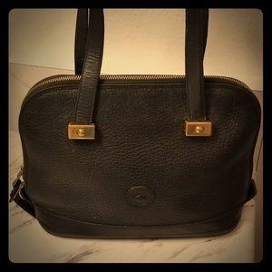 Vintage Dooney Bourke Black Leather Handbag